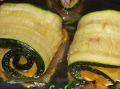 Roulès courgette mimolette, thym crème balsamique