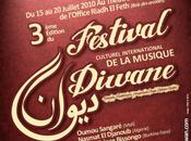 Festival culturel international musique diwane: Chant, danse transe