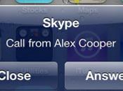 Skype jour pour avec notifications