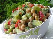 Salade pois chiches rafraîchissante vinaigrette crémeuse l'aneth