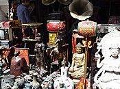 Marché oiseaux marché antiquités