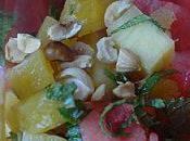 Salade ananas pastèque très parfumée