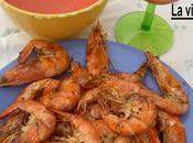 Crevettes roses bbq, emulsion tomates maison
