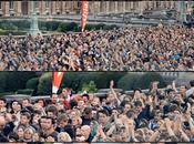Aline appareil photo dans foule Brussels Summer...
