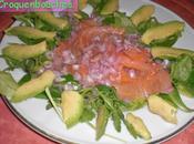 Assiette saumon salade avocat