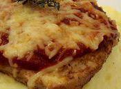 Côte porc gratinée tomate moutarde