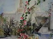 passant Djerba, aquarelle carnet voyage