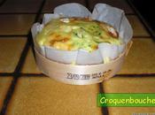 Quiches sans pate camembert courgettes dans leur boite