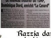 septembre 2010 Razzias Canard enchaîné dans kiosques Chambéry Bains Explication