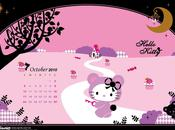 Calendrier Hello kitty Octobre 2010