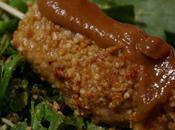 Brochettes poulet panées cacahuète