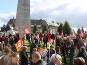 Leclerc Intermarché occupés manifestants contre réforme retraites Avranches (50) samedi octobre 2010