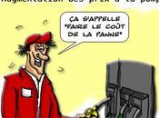 Pénurie carburant augmentation prix pompe