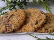 Cookies flocons d'avoine, pépites chocolat noix coco