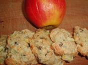 Cookies pommes, flocons d'avoine pépites chocolat