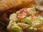 Ciabbata grillé salade Goberge Crevettes