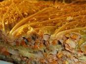 Chou farci, plutôt lasagnes chou vert saucisse Toulouse, carottes, oignons herbes: petit plat d'hiver!