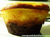Muffins-cheesecakes chocolat noir l'orange