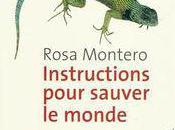 Instructions pour sauver monde Rosa Montero