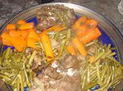 Souris d'agneau légumes épicés d'oignons