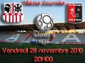 Ajaccio Boulogne pour compte 16ème journée soir