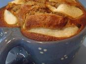 Mamina Olif menu Soupe cerfeuil tubéreux saucisse Morteau, crumble courgettes-noisettes gâteau poires-praliné