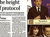 Sarkozy joue monarques Inde.
