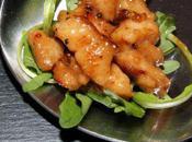 Cuillère poulet miel poivre vert