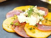 Salade betteraves rayées marinées