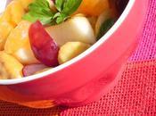 Salade fruits frais basilic pays