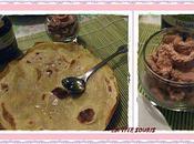crêpes accompagnées mousse chantilly chocolat