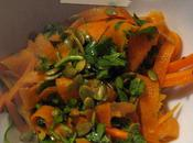 Salade butternut graines huile courge
