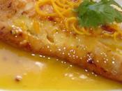 Coeur cabilleau beurre d'orange courgettes.