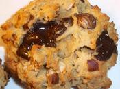 Cookies compote, beurre cacahuètes, chocolat noir, praliné sésame noisettes DINGUE!