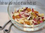 Salade deux endives fruits secs
