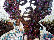 portrait Jimi Hendrix avec 5000 Médiators