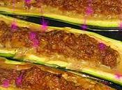 Courgettes farcis DUKAN boeuf haché,fromage blanc,son d'avoine