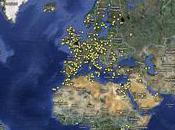 Carte monde lieux tournage