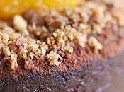 fondant chocolat chataigne crème anglaise l'orange