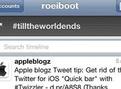 Application iPhone: Quick retirée Twitter