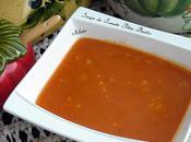 Soupe tomates-pâtes-basilic