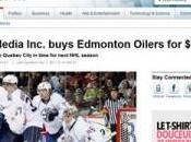 annonce déménagement Oilers d'Edmonton