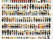 personnages pixelisés Star Trek