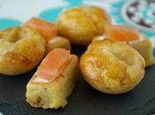 Bouchées tomates séchées/mozza mini cakes rouget saumon