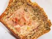 Muffin sons, asperges zestes d'orange, cœur tartare saumon mi-cuit petits légumes (Dukan, Gourmands