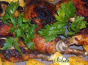 Cuisses poulet moutarde-miel