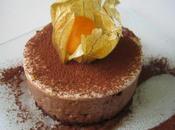 Gateau mousse chocolat noir ganache blanche!!