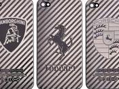 Coque arrière d'iPhone avec monogramme Lamborghini, Ferrari Porsche