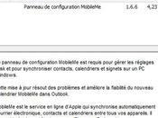 MobileMe Mise jour panneau contrôle Windows