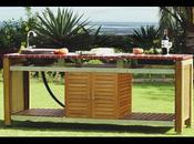 Table jardin mosaïque, table forgé cuisine extérieure, haut gamme sans laisser peau